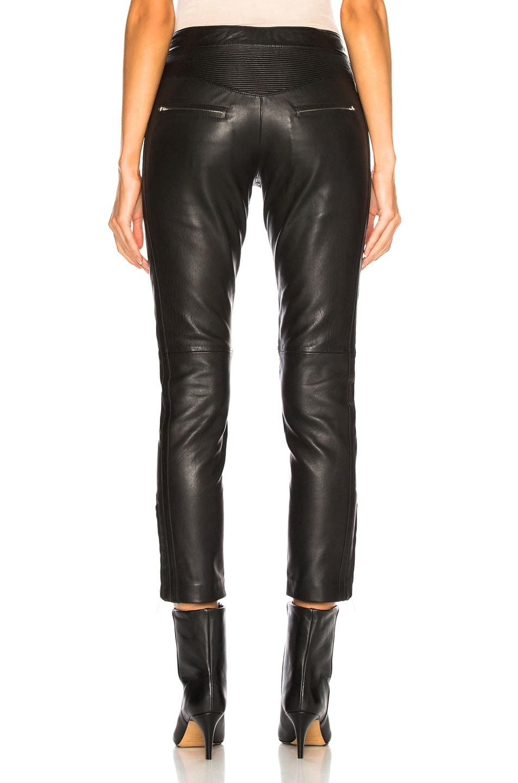 Image 3 of Isabel Marant Etoile Leather Aya Pant in Black
