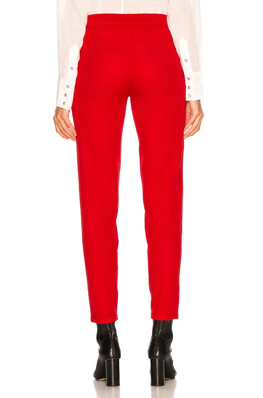 Image 4 of Isabel Marant Etoile Dario Pant in Red