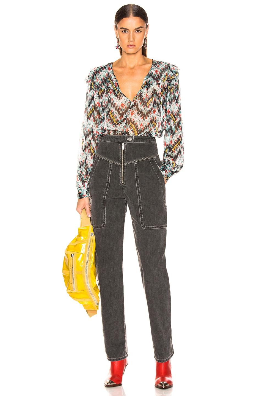 Image 4 of Isabel Marant Etoile Luke Pant in Faded Black