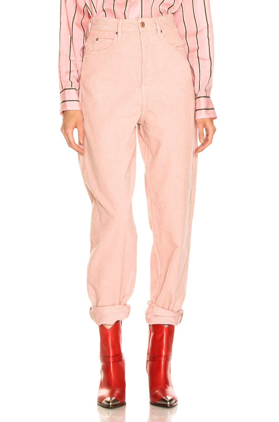 Image 1 of Isabel Marant Etoile Corsy Pant in Light Pink