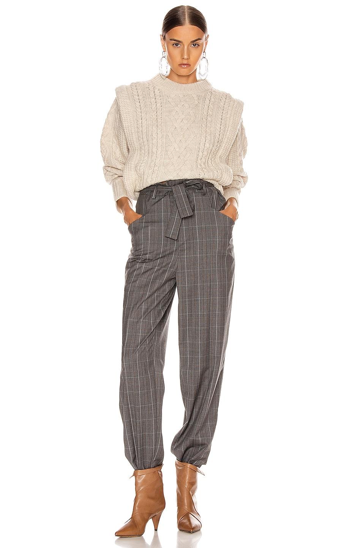 Image 4 of Isabel Marant Etoile Vittoria Pant in Grey
