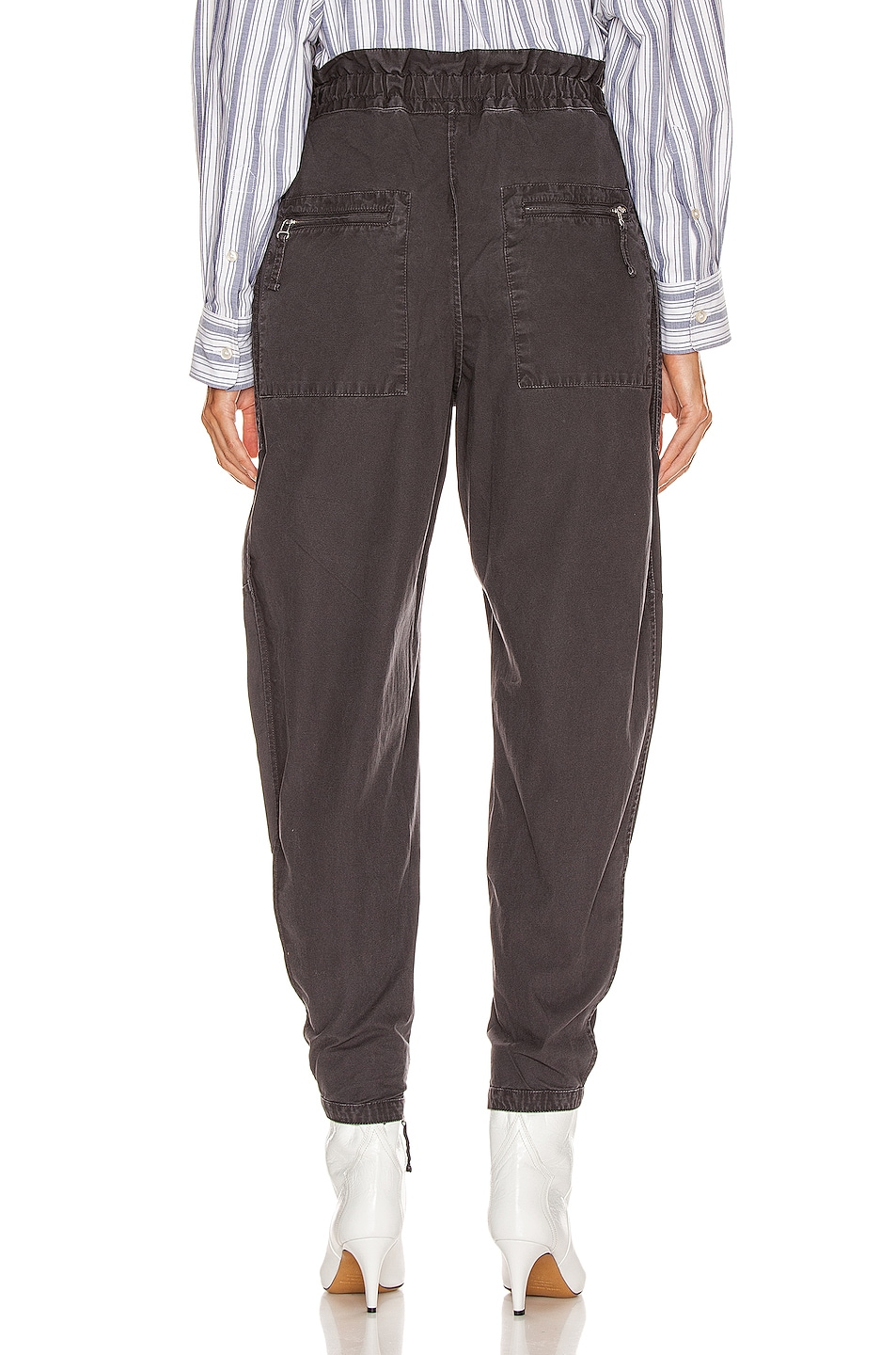 Image 3 of Isabel Marant Etoile Lecia Pant in Faded Black