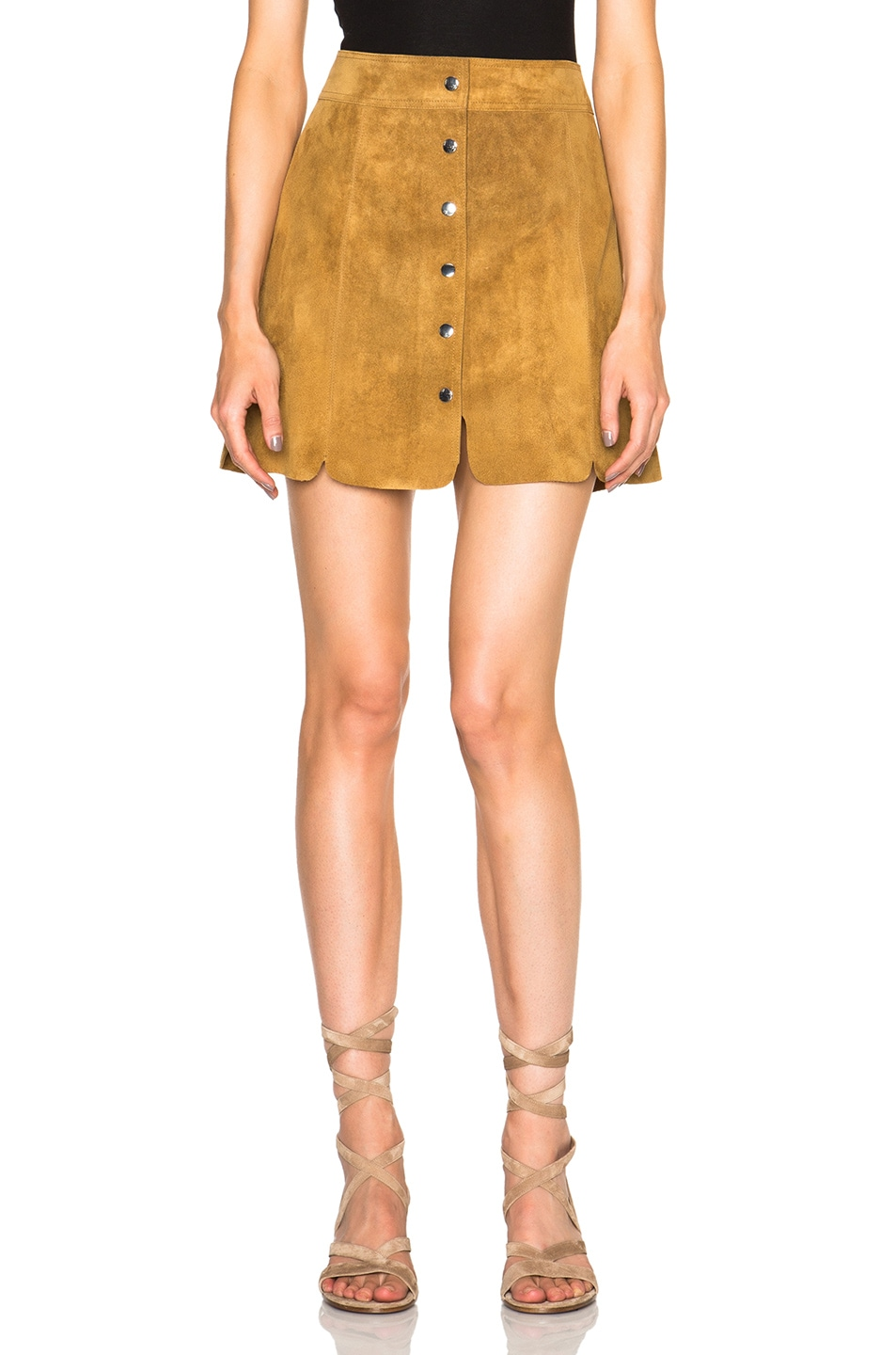 6c52e7e68f Image 1 of Isabel Marant Etoile Anna Suede Skirt in Camel