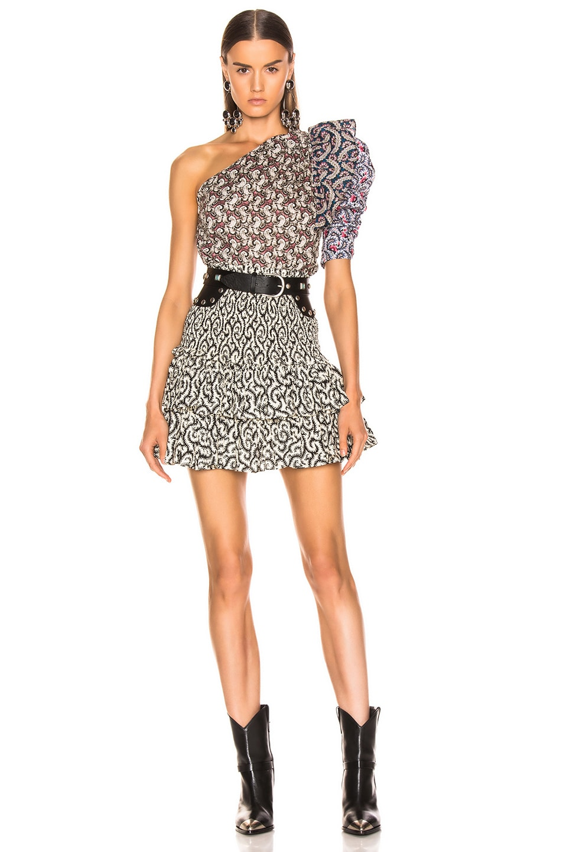 Image 4 of Isabel Marant Etoile Naomi Skirt in Black