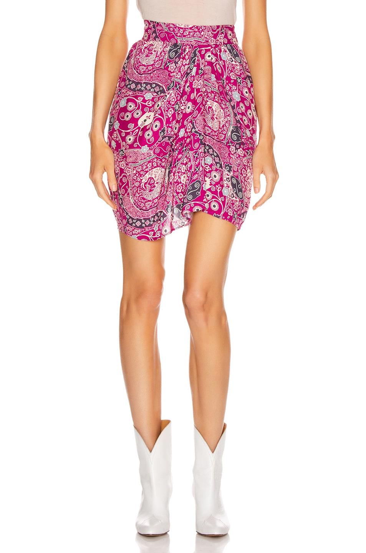 Image 1 of Isabel Marant Etoile Cegart Skirt in Fuchsia