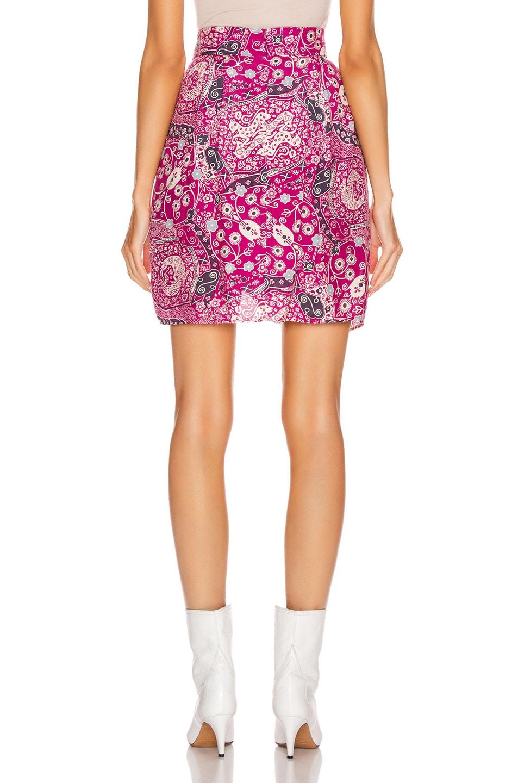 Image 3 of Isabel Marant Etoile Cegart Skirt in Fuchsia