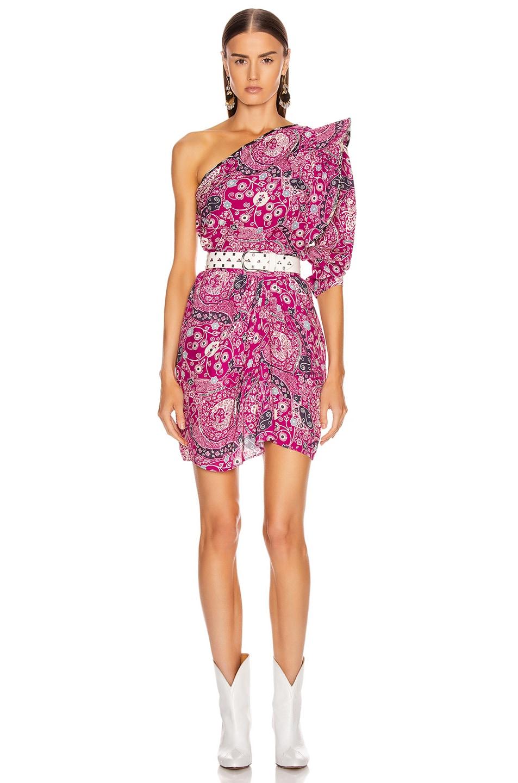 Image 4 of Isabel Marant Etoile Cegart Skirt in Fuchsia