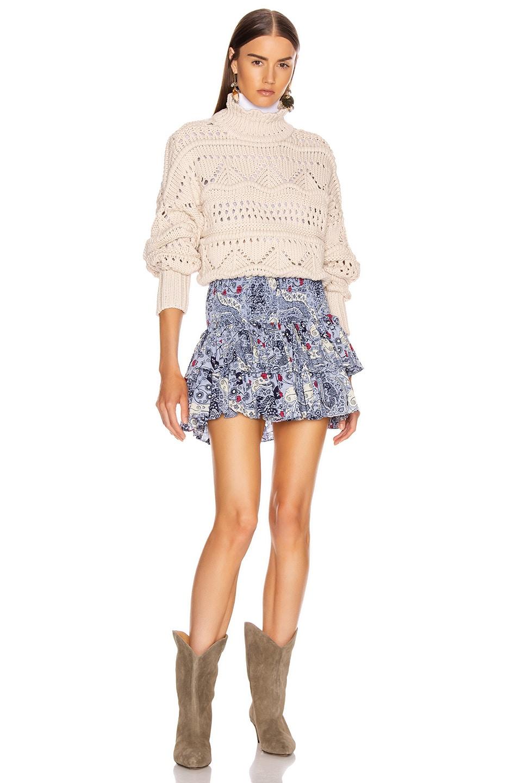 Image 4 of Isabel Marant Etoile Naomi Skirt in Blue