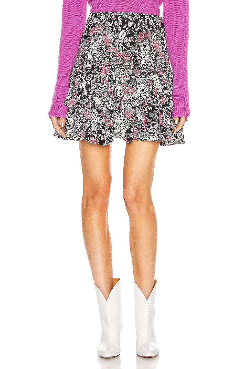 Image 1 of Isabel Marant Etoile Naomi Skirt in Dark Plum