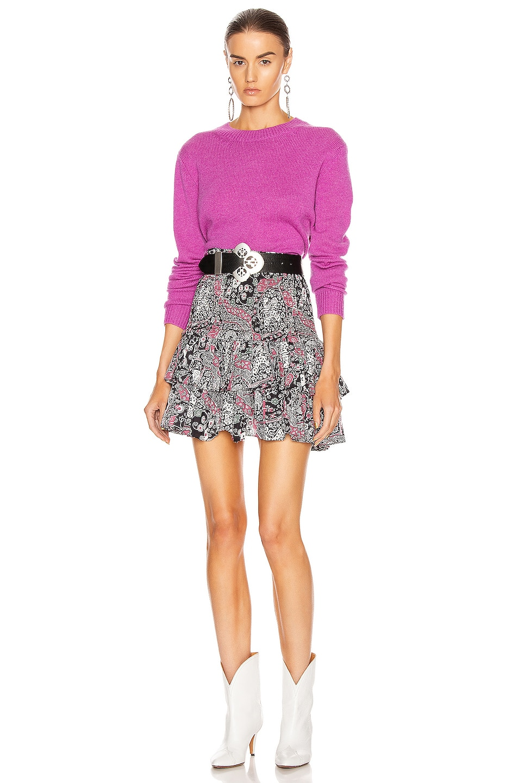 Image 4 of Isabel Marant Etoile Naomi Skirt in Dark Plum