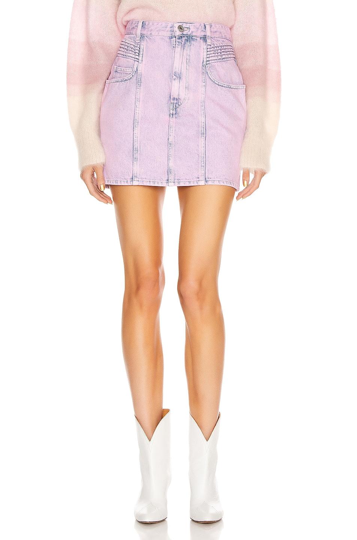 Image 1 of Isabel Marant Etoile Hondo Skirt in Neon Pink
