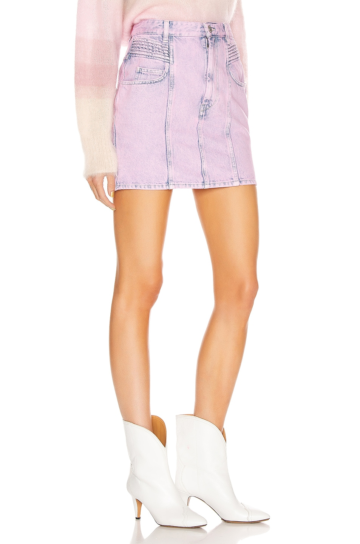 Image 2 of Isabel Marant Etoile Hondo Skirt in Neon Pink