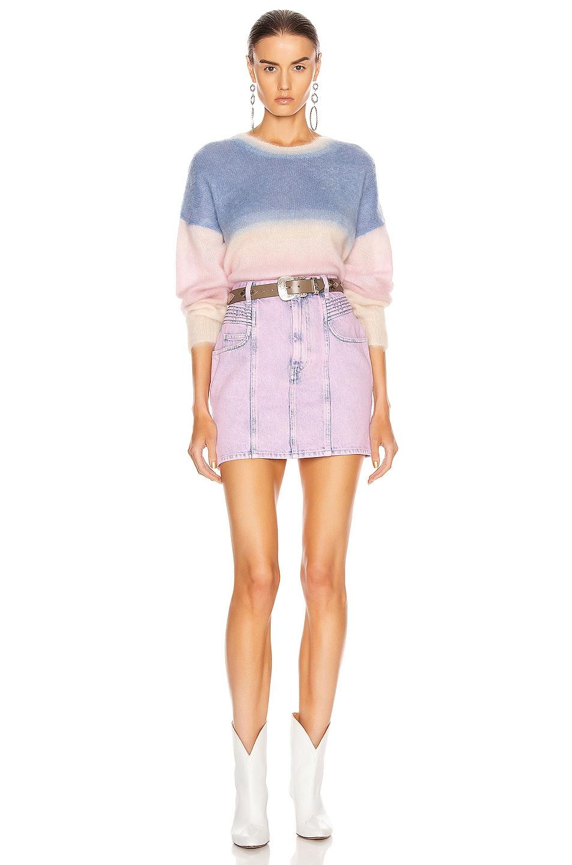 Image 4 of Isabel Marant Etoile Hondo Skirt in Neon Pink