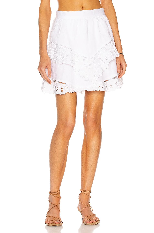 Image 1 of Isabel Marant Etoile Enali Skirt in White