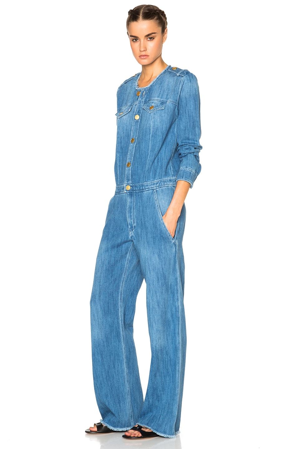 69f66f7c48c0 Image 2 of Isabel Marant Etoile Ojima Fluffy Jean Jumpsuit in Blue