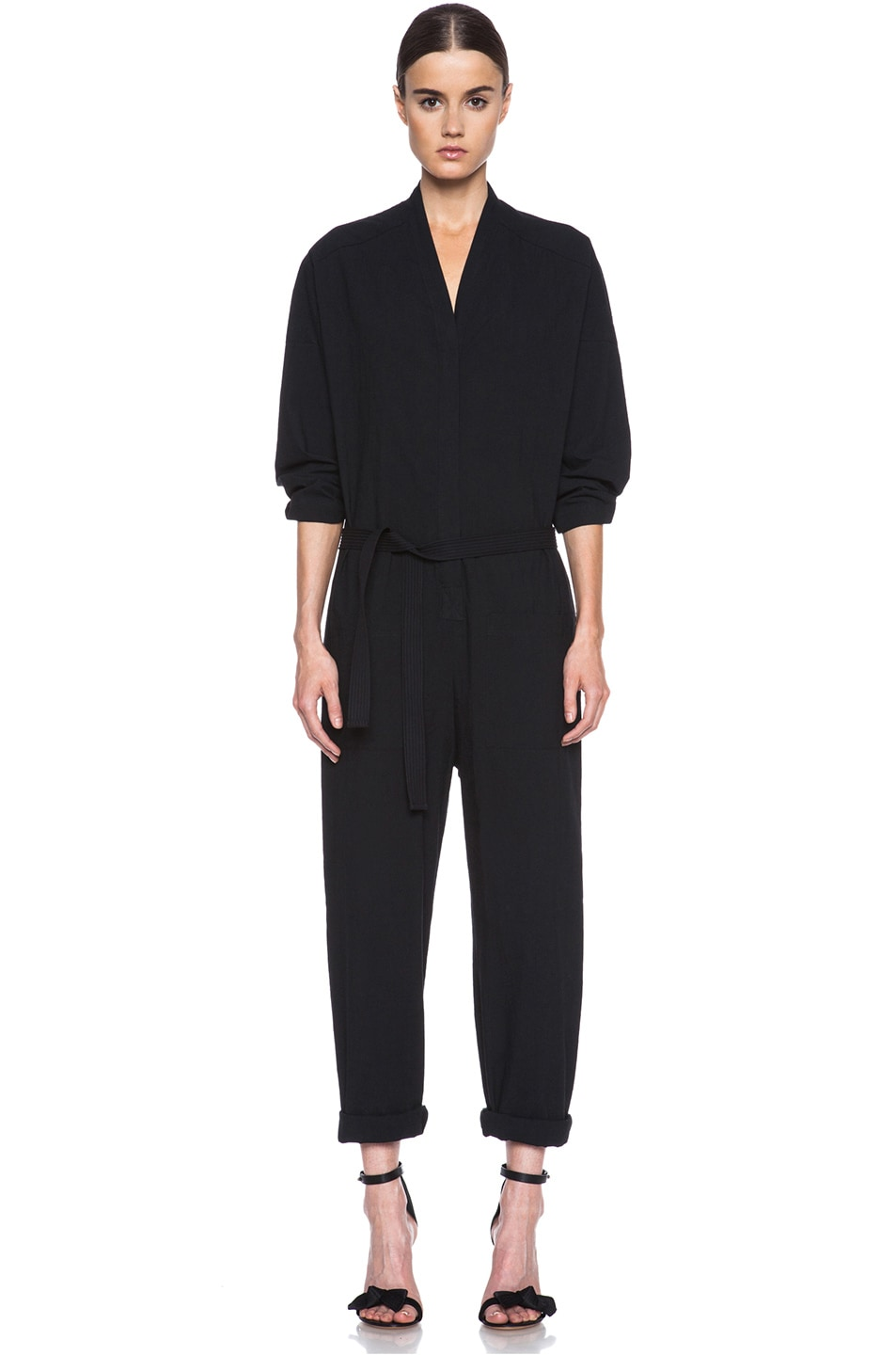 46e1aebf2d96 Image 1 of Isabel Marant Etoile Ilona Cotton Jumpsuit in Black