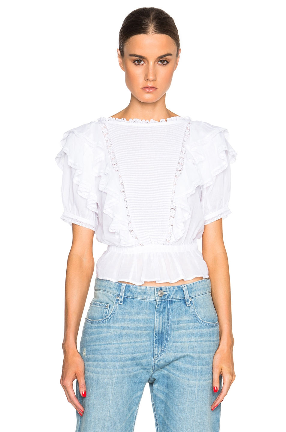 Isabel Marant Etoile Nathan Alice Items Top in White