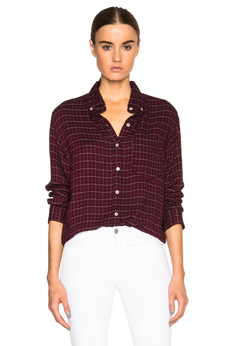 Image 1 of Isabel Marant Etoile Prune Tap Dance Shirt in Burgundy