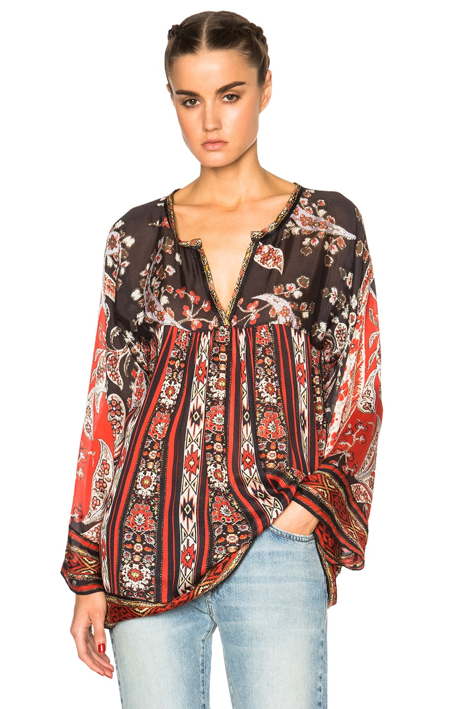 11ac20c69e Image 1 of Isabel Marant Etoile Tucson Paisley Print Top in Black