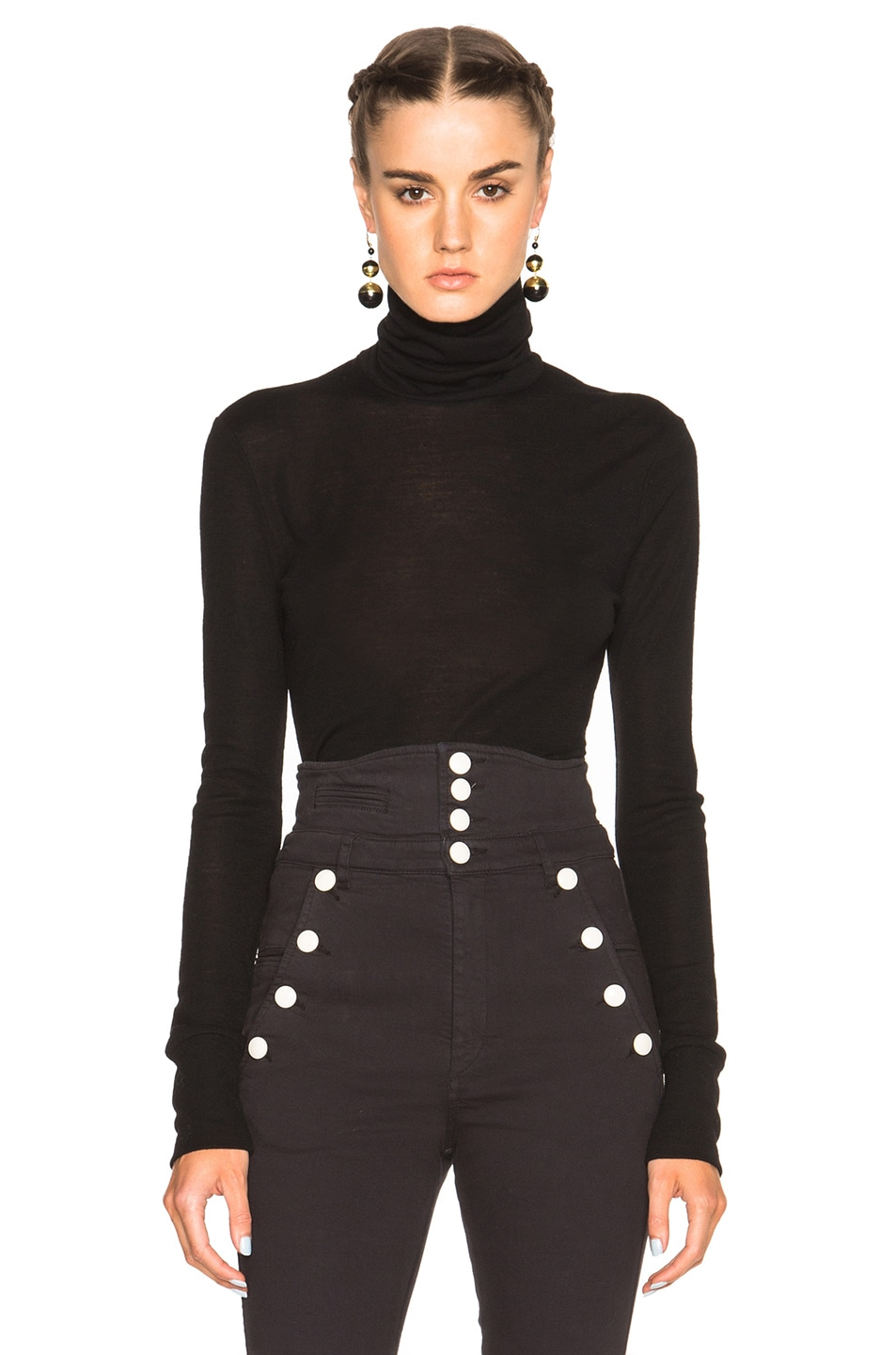 Image 1 of Isabel Marant Etoile Joey Body Knit Top in Black