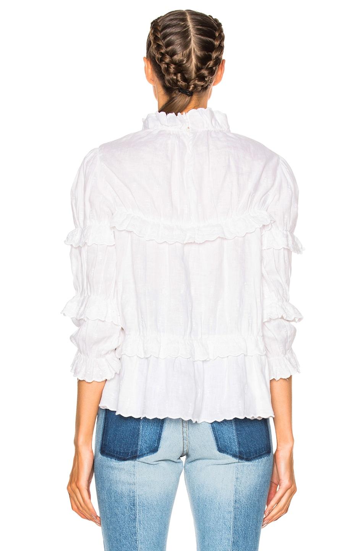 Image 4 of Isabel Marant Etoile Daniela Chic Linen Top in White