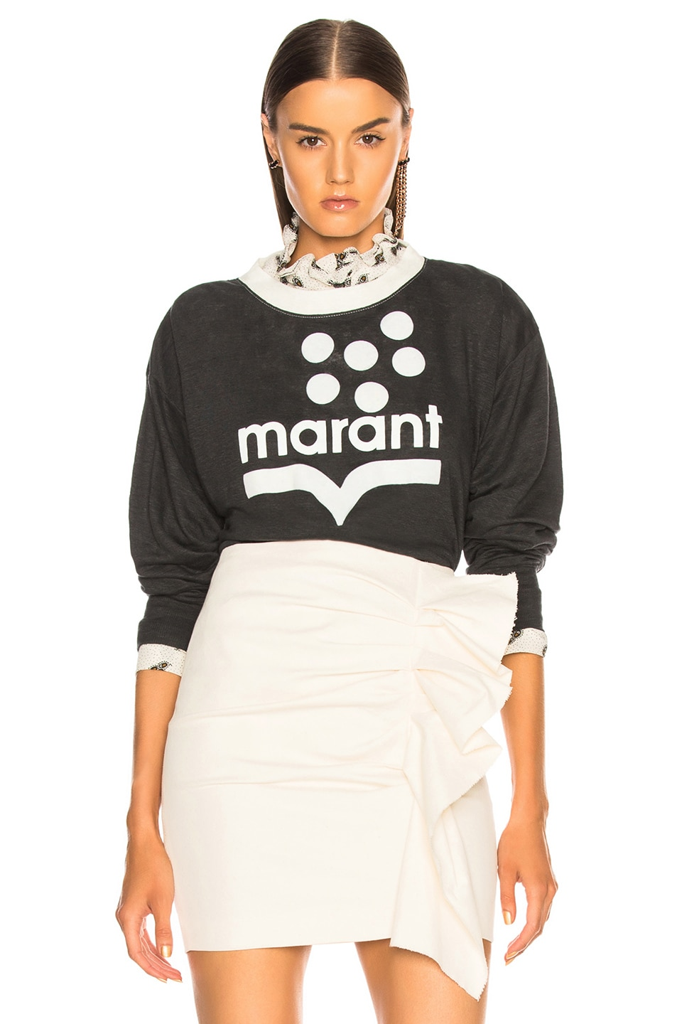 Image 1 of Isabel Marant Etoile Klowyn Top in Black & Ecru