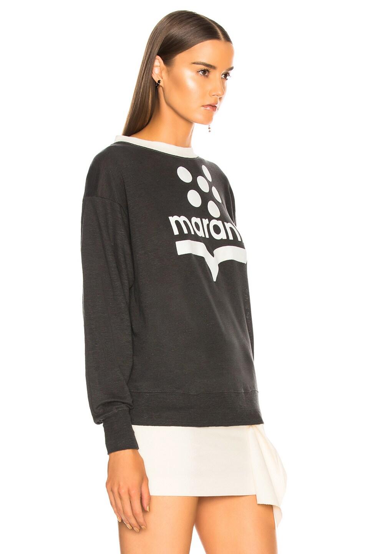 Image 3 of Isabel Marant Etoile Klowyn Top in Black & Ecru