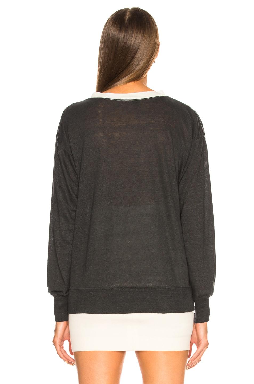 Image 4 of Isabel Marant Etoile Klowyn Top in Black & Ecru