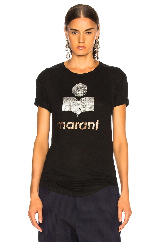 Image 2 of Isabel Marant Etoile Koldi Tee in Black