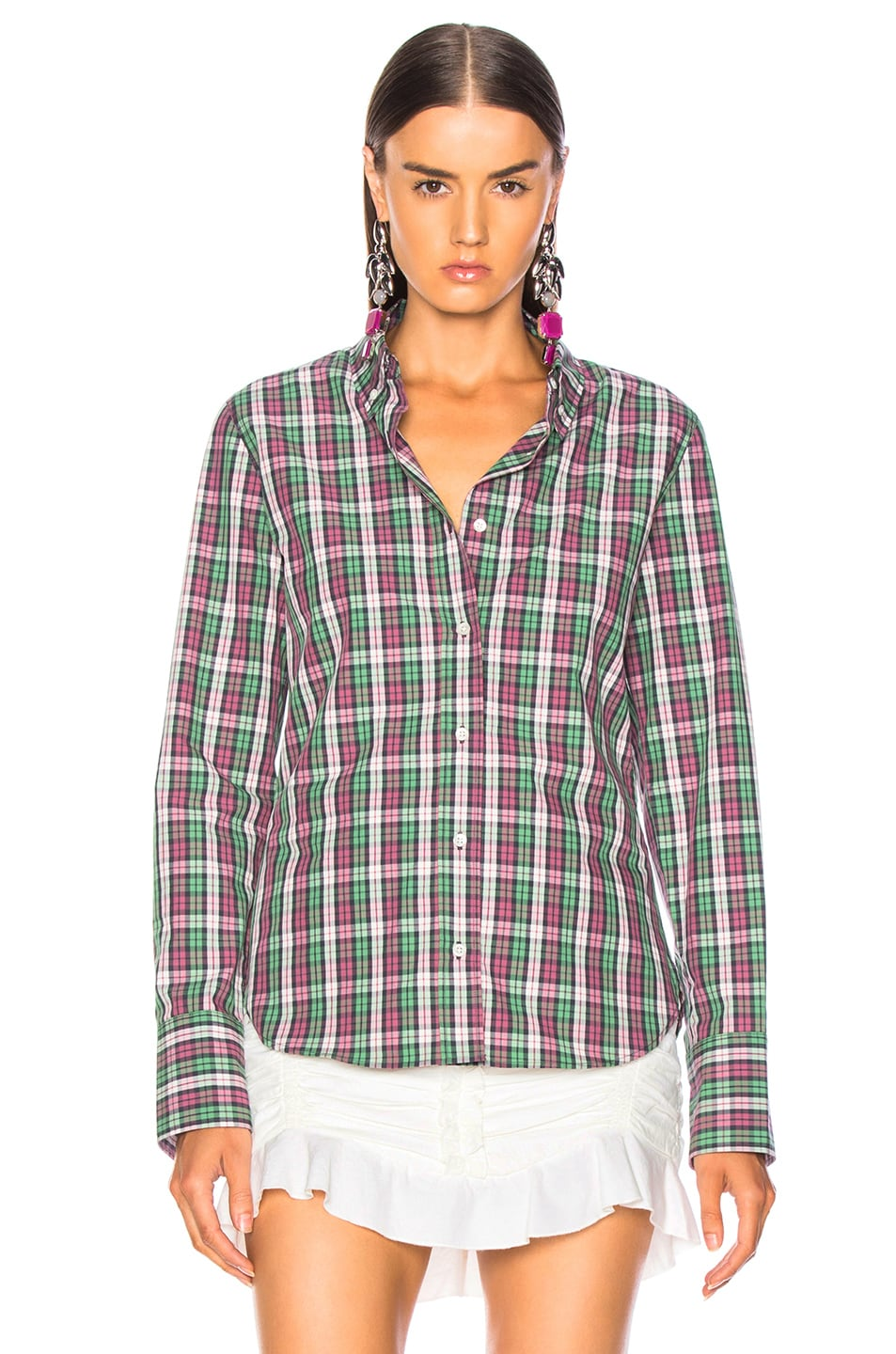 Image 2 of Isabel Marant Etoile Owill Shirt in Green
