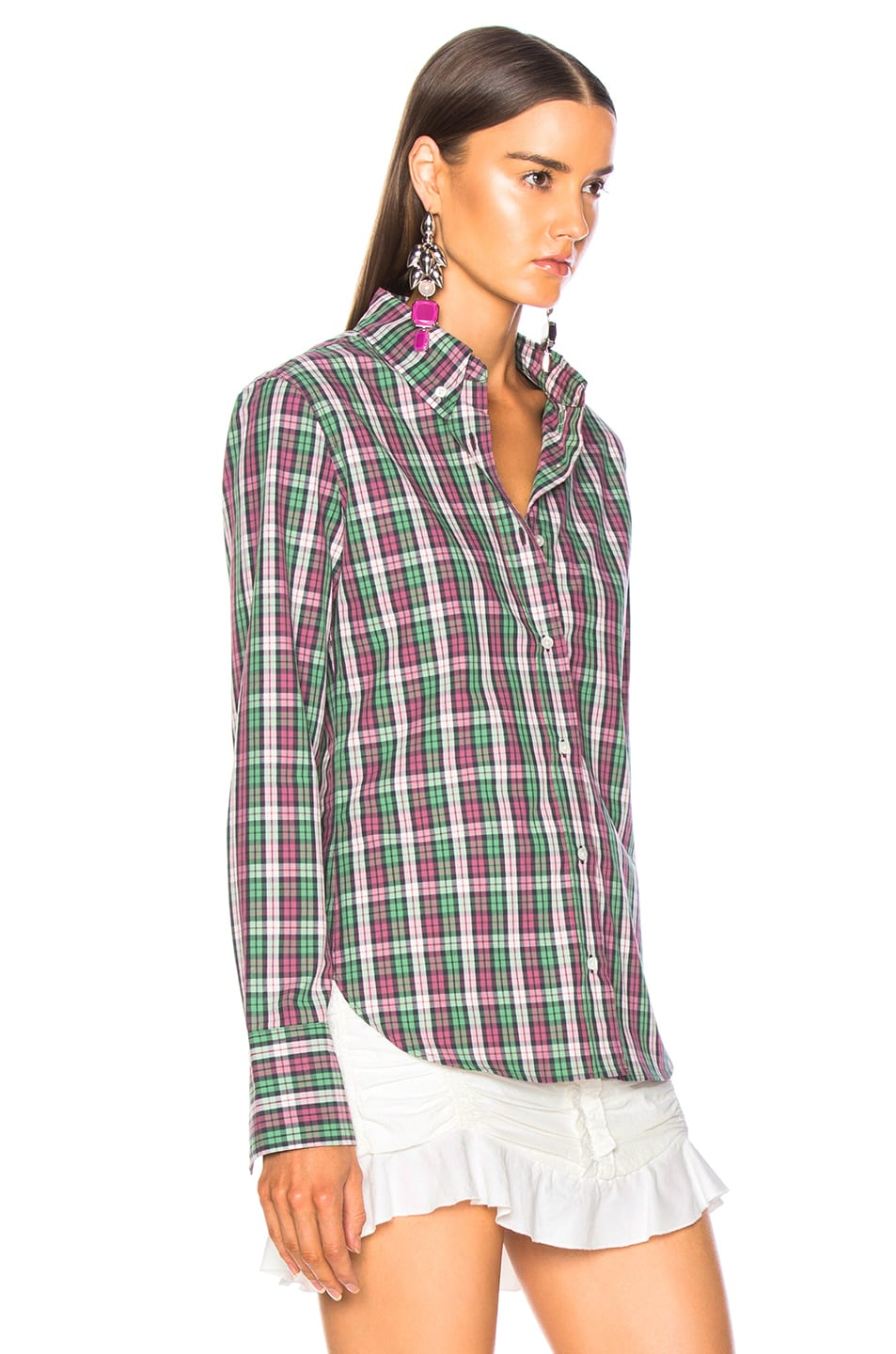Image 3 of Isabel Marant Etoile Owill Shirt in Green