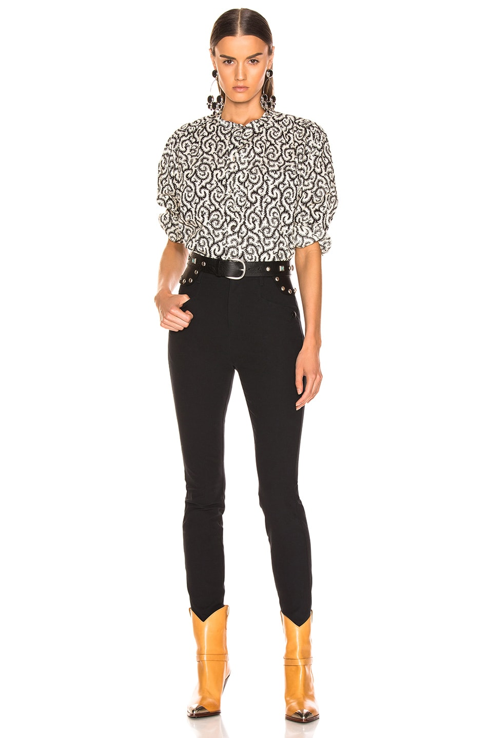 Image 4 of Isabel Marant Etoile Mexika Top in Black