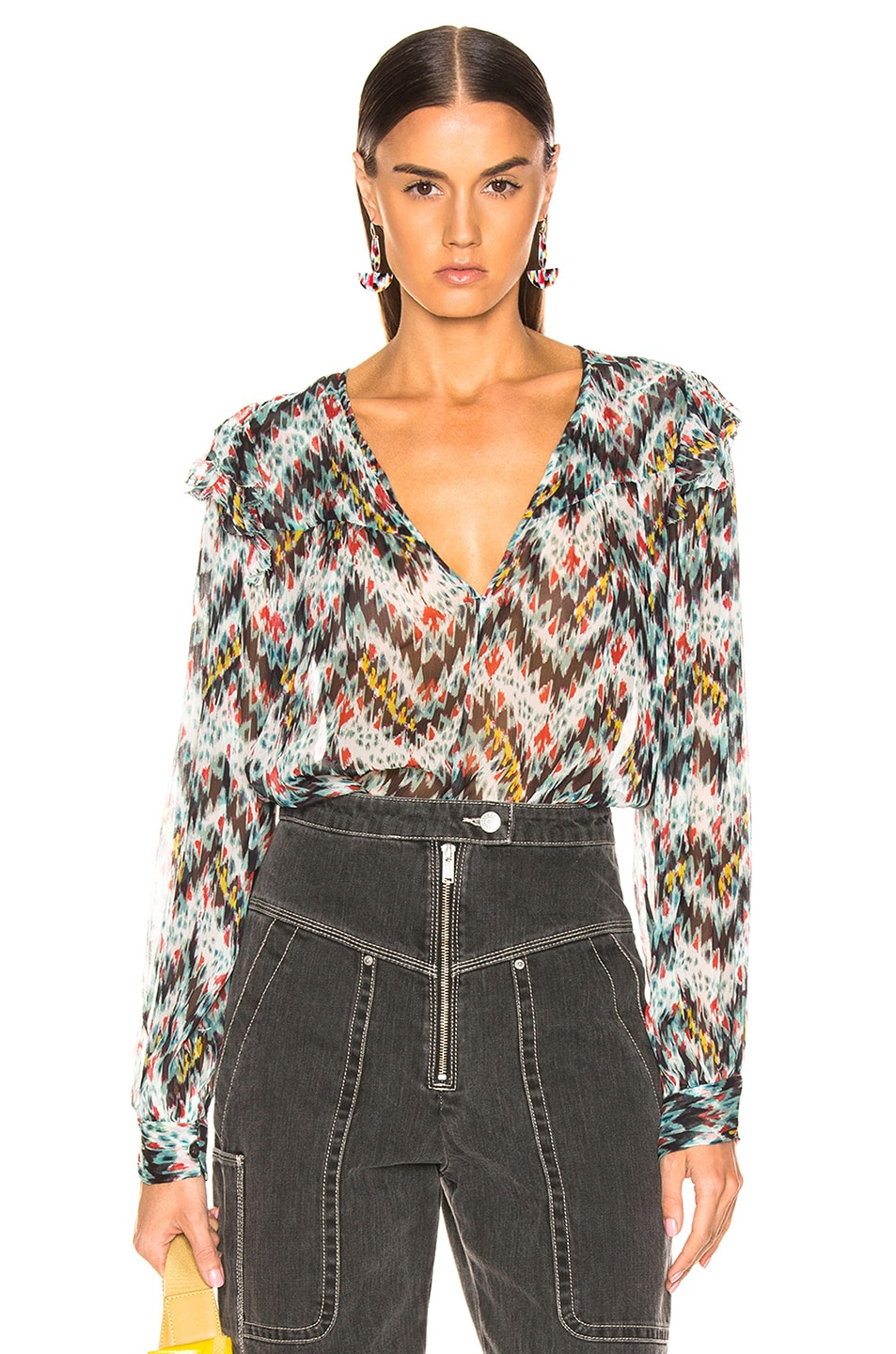 Image 1 of Isabel Marant Etoile Enfield Top in Multicolor