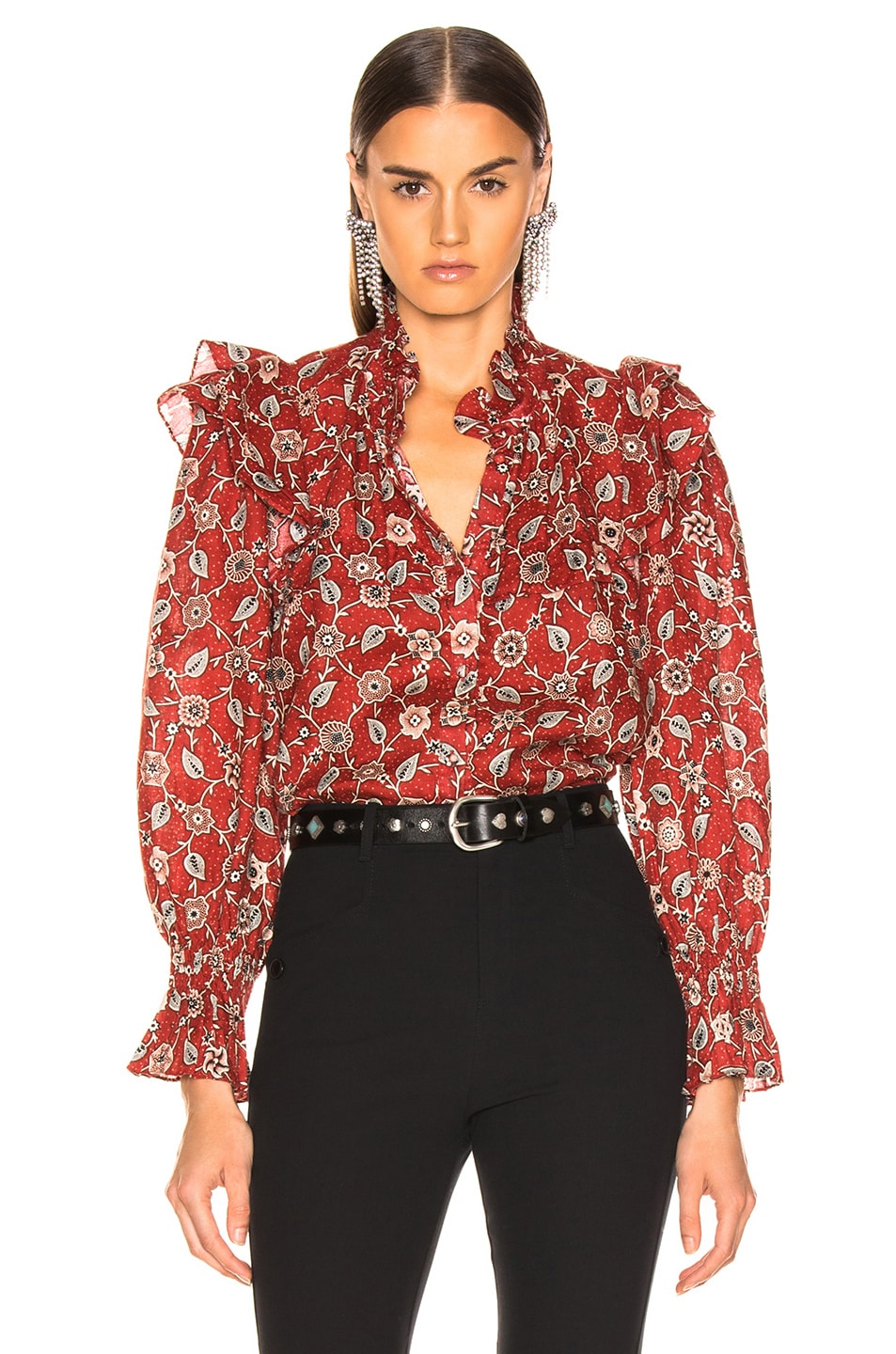 Image 1 of Isabel Marant Etoile Tedy Top in Rust