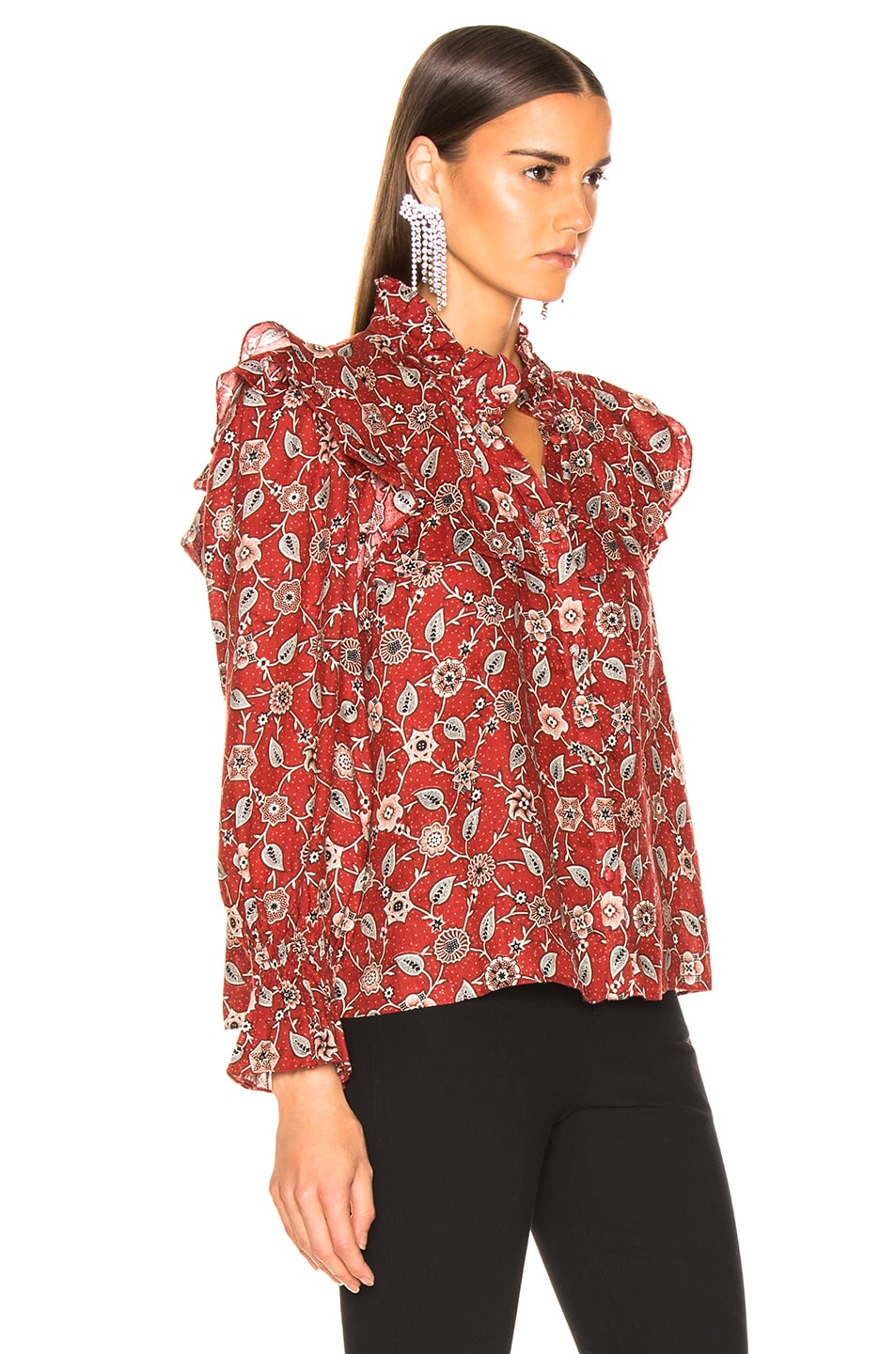 Image 2 of Isabel Marant Etoile Tedy Top in Rust