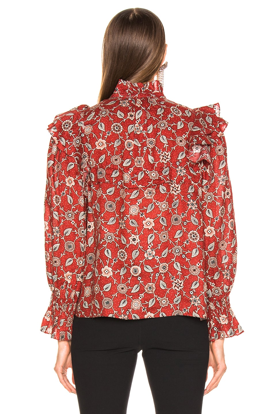 Image 3 of Isabel Marant Etoile Tedy Top in Rust