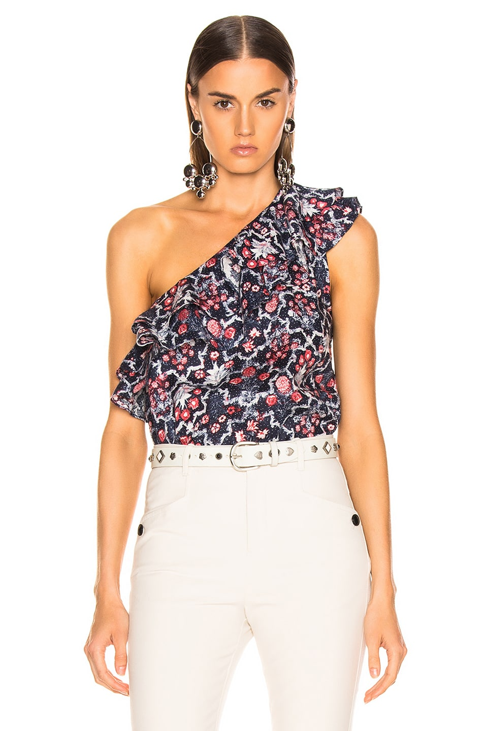 Image 1 of Isabel Marant Etoile Thomy Top in Midnight