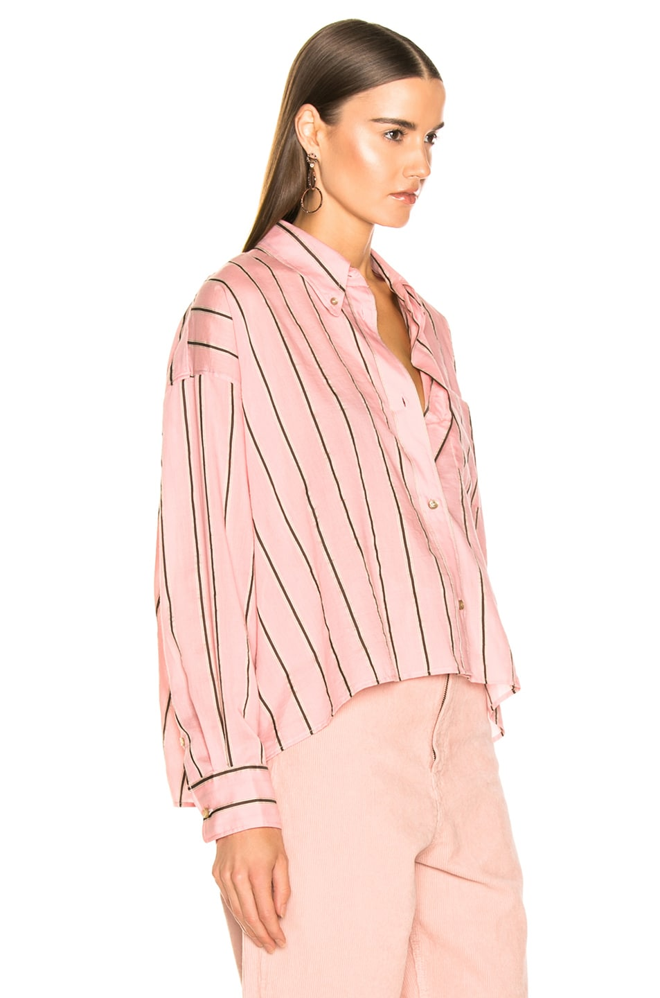 Image 2 of Isabel Marant Etoile Ycao Shirt in Light Pink