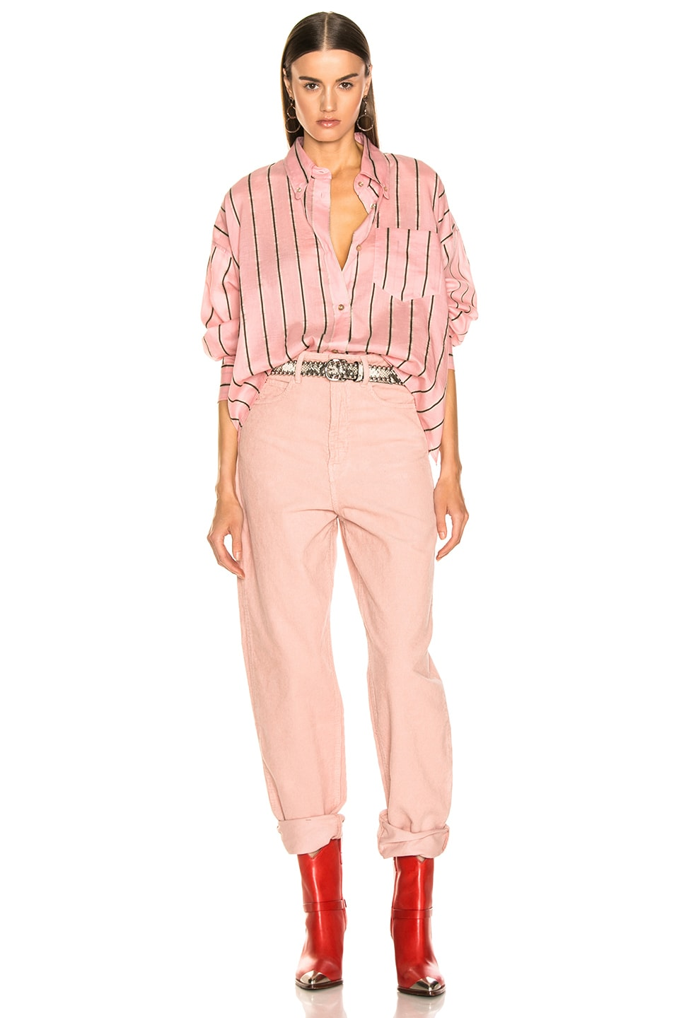 Image 4 of Isabel Marant Etoile Ycao Shirt in Light Pink