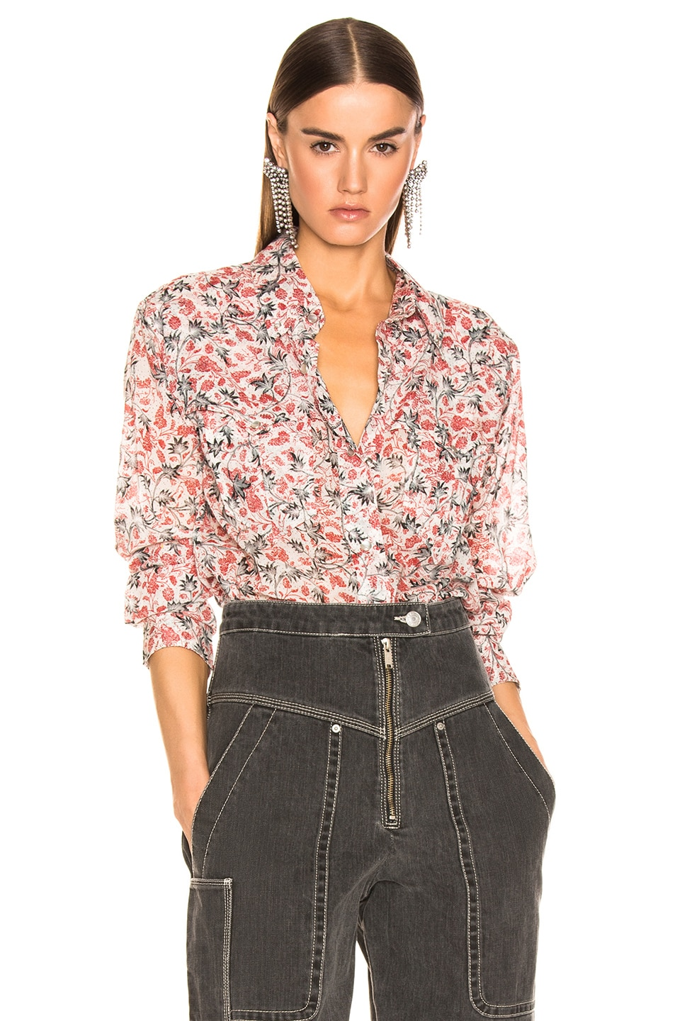 Image 1 of Isabel Marant Etoile Emelina Top in Ecru