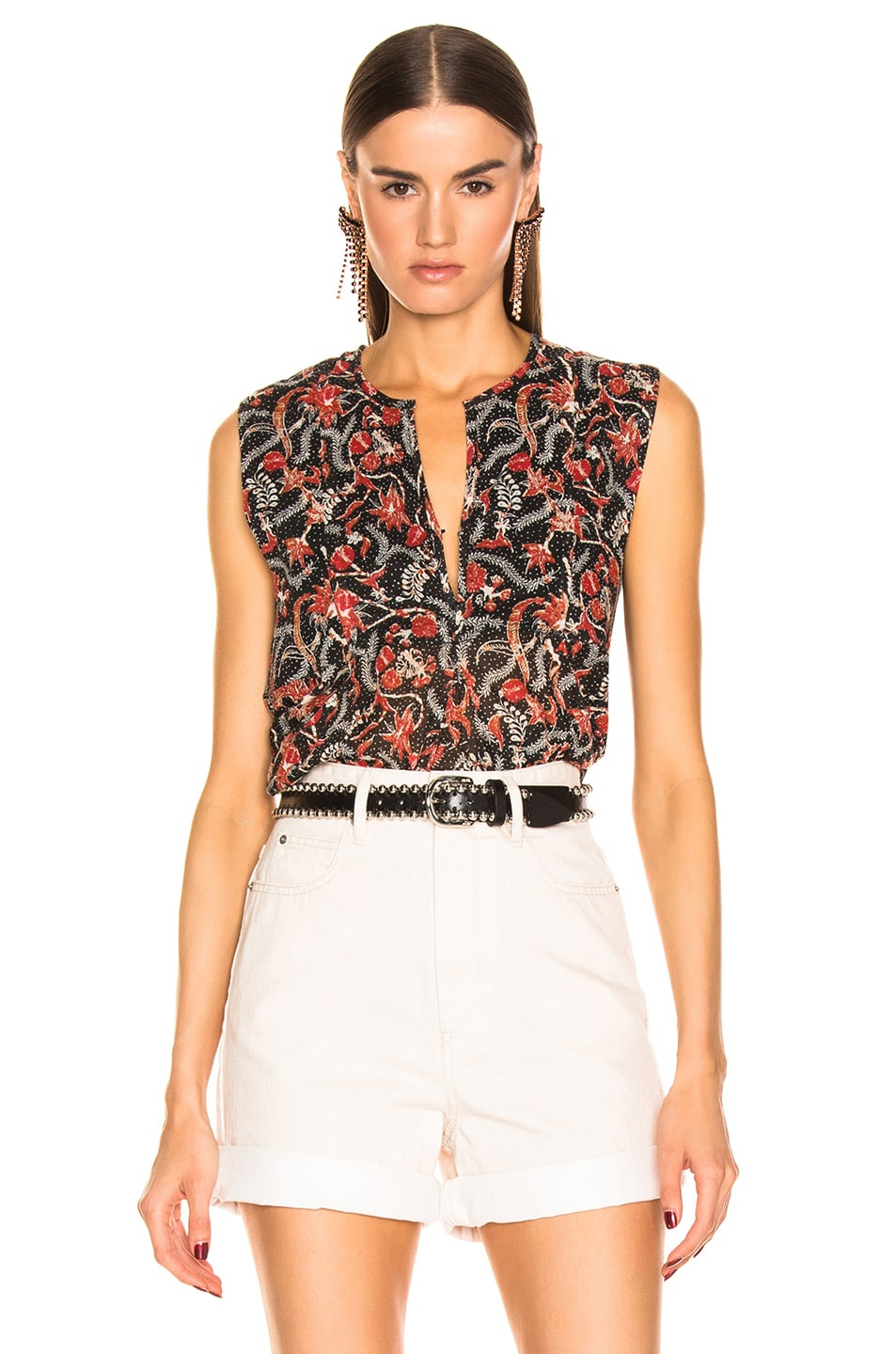 Image 1 of Isabel Marant Etoile Erney Top in Black