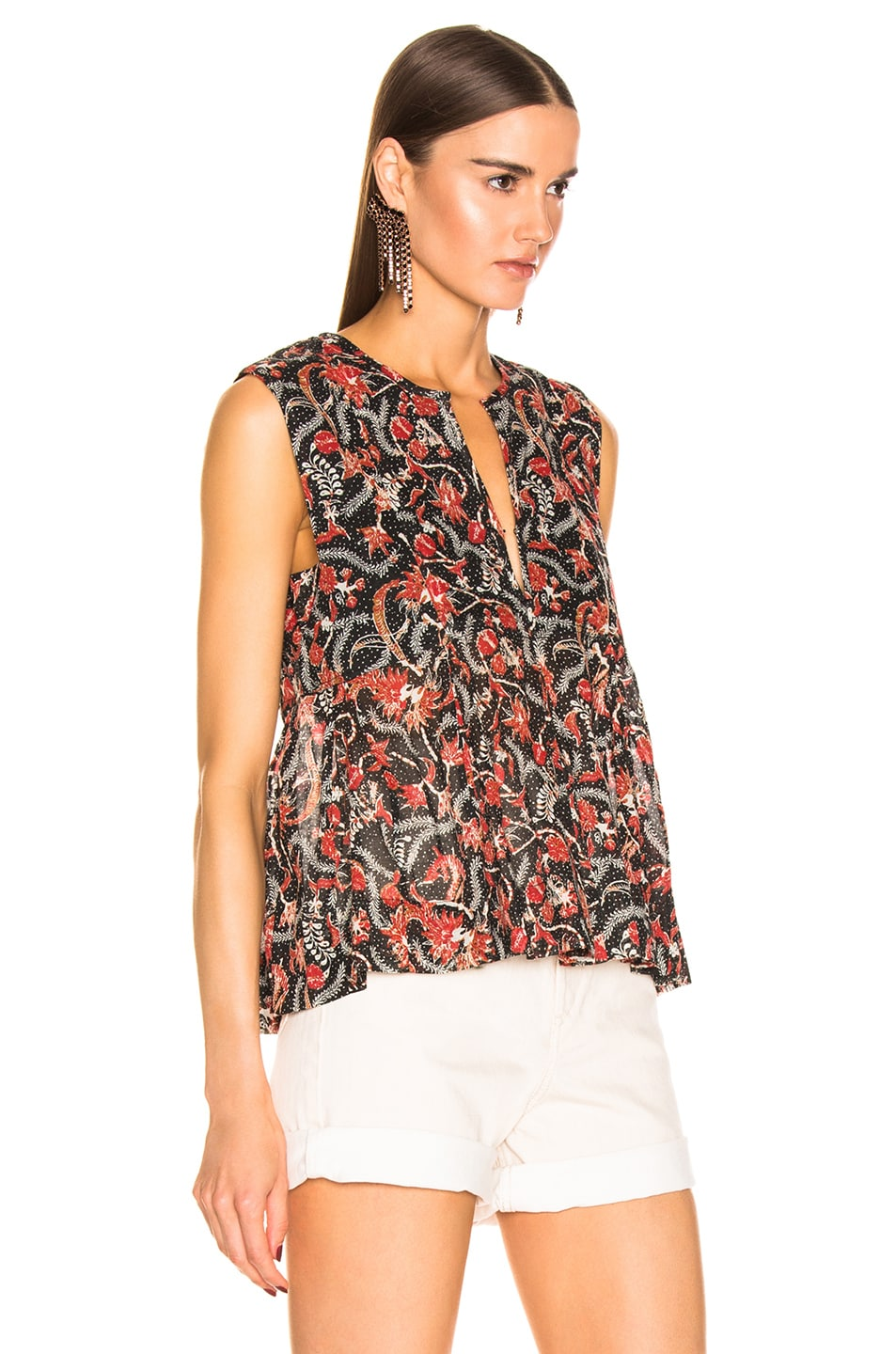 Image 2 of Isabel Marant Etoile Erney Top in Black