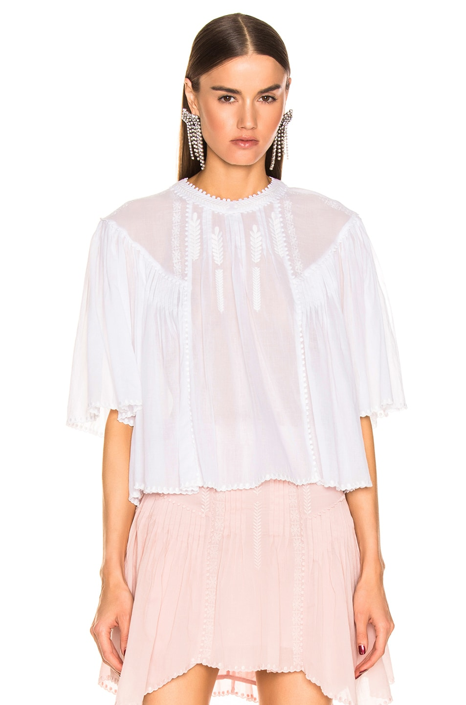 Image 2 of Isabel Marant Etoile Algar Top in White
