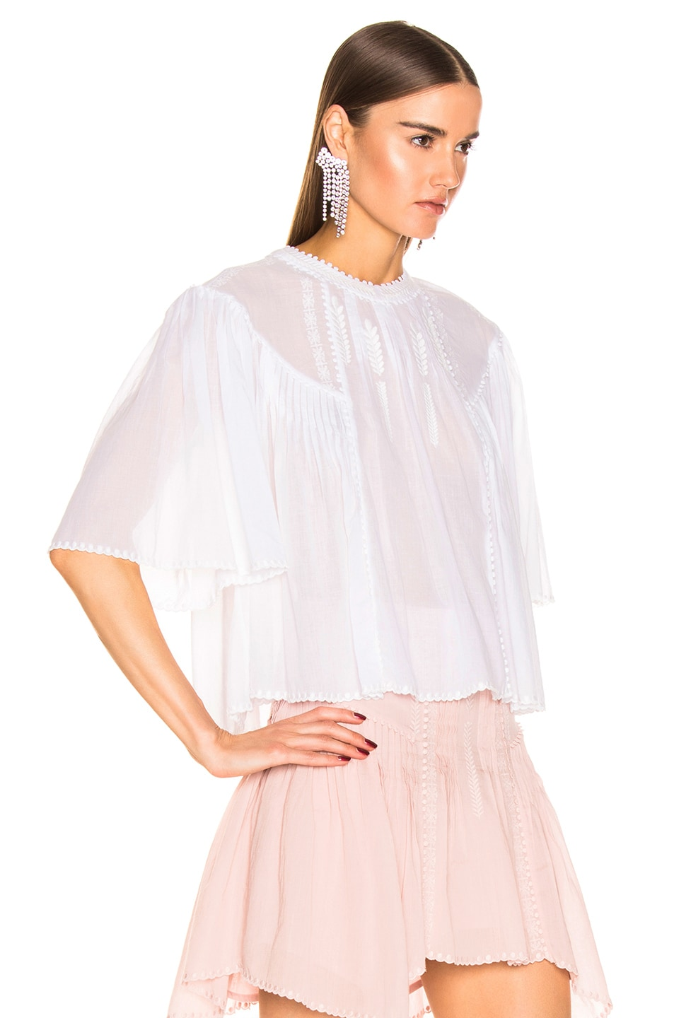 Image 3 of Isabel Marant Etoile Algar Top in White