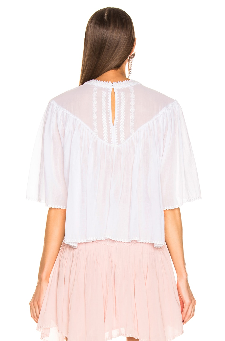 Image 4 of Isabel Marant Etoile Algar Top in White