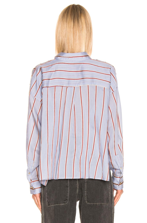 Image 3 of Isabel Marant Etoile Ycao Shirt in Light Blue
