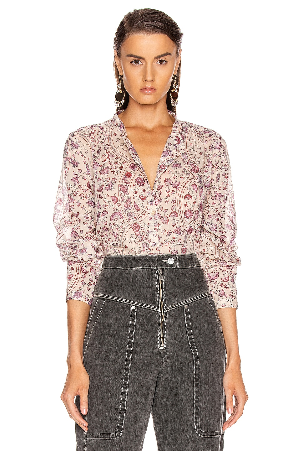 Image 1 of Isabel Marant Etoile Maria Top in Ecru