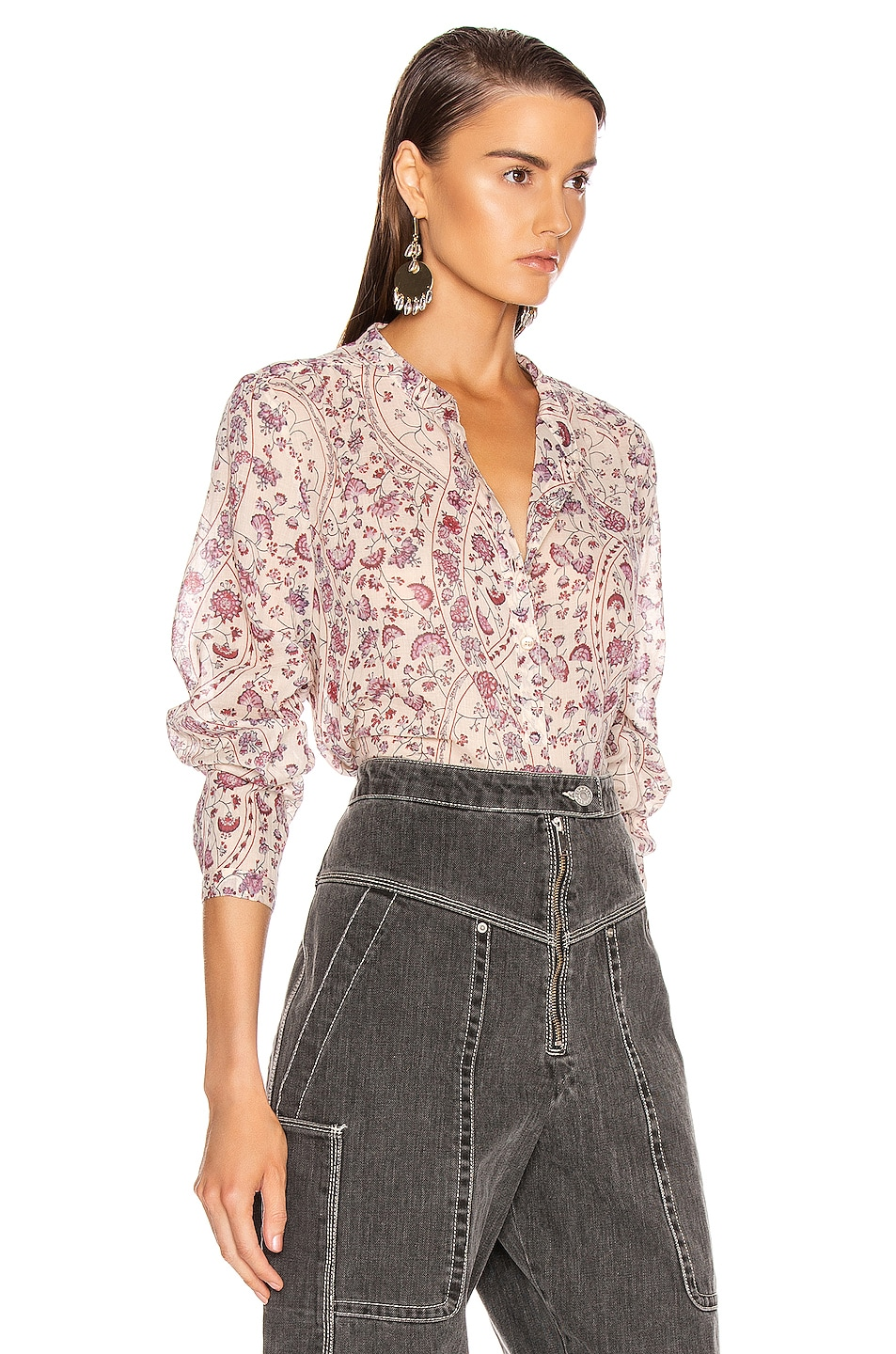 Image 2 of Isabel Marant Etoile Maria Top in Ecru