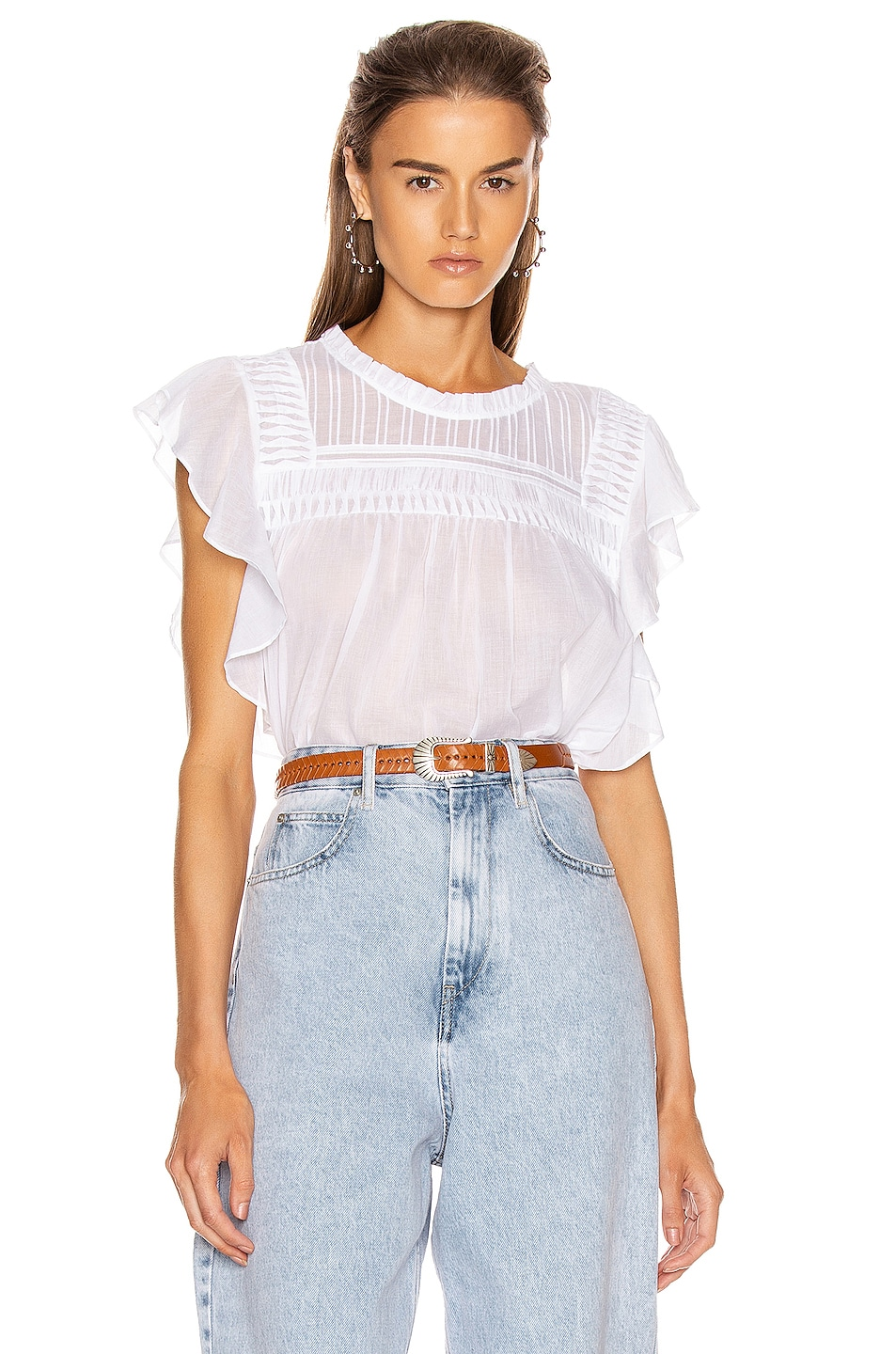 Image 1 of Isabel Marant Etoile Layona Top in White
