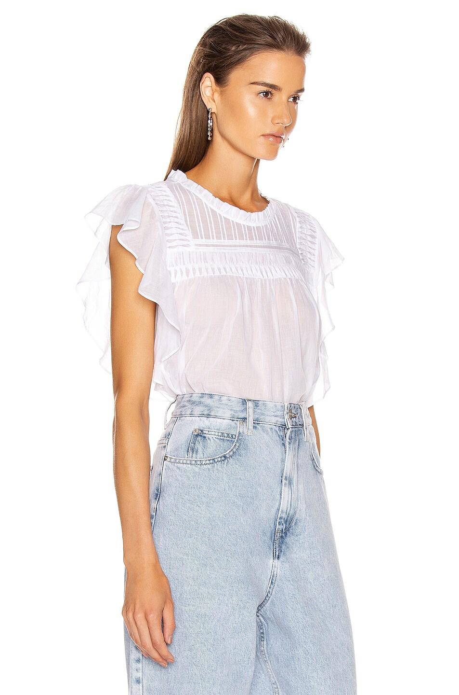 Image 2 of Isabel Marant Etoile Layona Top in White